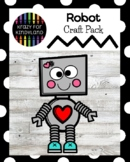 Robot Craft for Valentine's Day Activity, Morning Work, Center, Bulletin Board