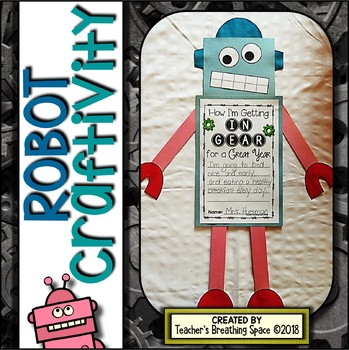 Robot Craftivity --- Robot Craft & Writing Project PERFECT for Back-To-School