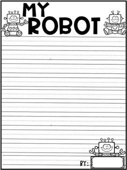 Robot Creative Writing Pages - FREEBIE