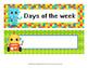 Robot Days of the Week Calendar Headers