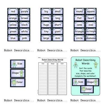 Robot Describing Words (Adjectives)
