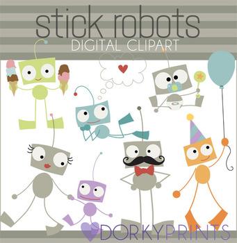 Robot Digital Clip Art