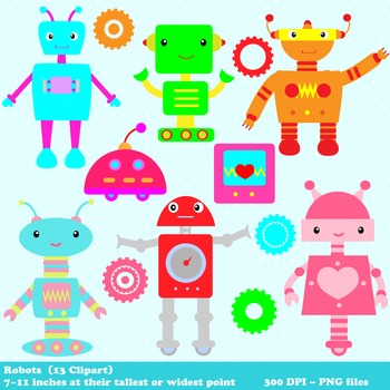 Robot Digital Clipart