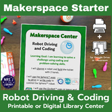 Ball or Line-Following Robot Driving & Coding Makerspace or Library Center