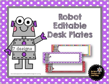 Robot Editable Desk Plates