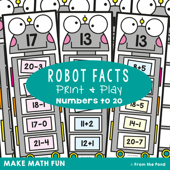 Robot Facts Addition and Subtraction Within 20