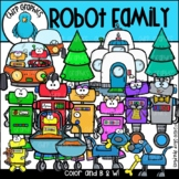 Robot Family Clip Art Set - Chirp Graphics