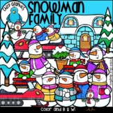 Snowman Family Clip Art Set - Chirp Graphics