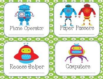 Robot Friends Job Chart