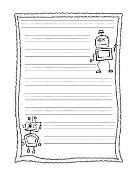 robot writing template