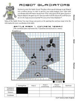 Robot Gladiators -- Coordinates Edition -- Coordinates and Translation Project