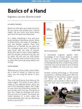 Robot Hand STEM Activity using Engineering Design