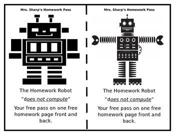 Robot Homework Pass