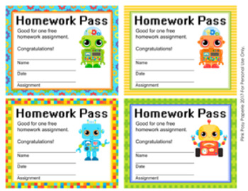 Robot Homework Passes