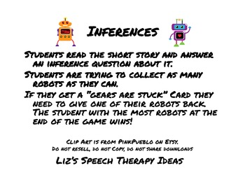 Robot Inferences Cards