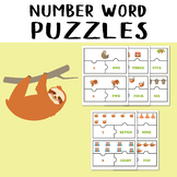 Sloth Jigsaw Number 1-10 Number Word Puzzles Game