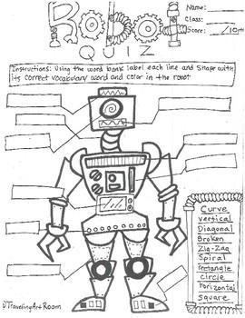 Robot Line and Shape Assesment