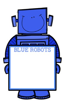 Robot Literacy Group Display Charts