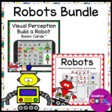 Robot Literacy and Math Center Worksheets Activities and B