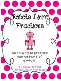 Robot Love Fractions {Valentine Math Center}