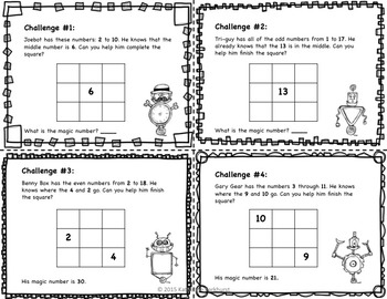 Robot Magic Squares Logic Puzzles