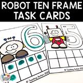 Robot Math Activities Ten Frame Task Cards