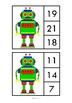 Robot Math Addition Clip Cards