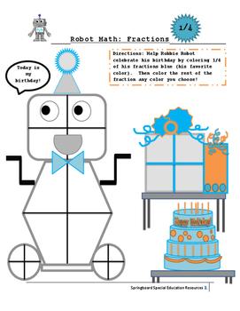 Robot Math: Fractions (1/4)