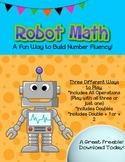 Robot Math Independent Workstation or Center (Number Fluency)