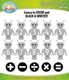 FREE Robot Math Numbers Clipart {Zip-A-Dee-Doo-Dah Designs}