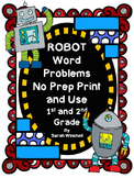 Robot Math Word Problems Differentiated Activities for Mat