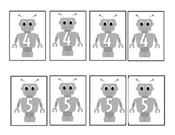 Robot Math for Addition and Subtraction