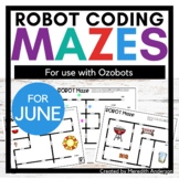 Robot Mazes for use with Ozobot Robots - June Coding Activities