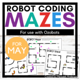 Robot Mazes for use with Ozobot Robots - May Coding Activities