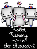 Robot Memory- Addition and Subtraction to 10 000 Bundle Canadian