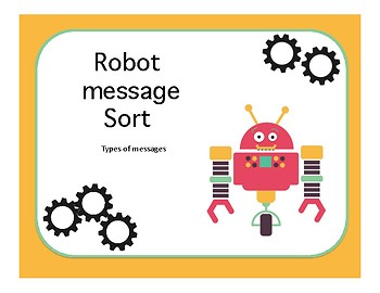 Robot Message Sort: Types of Messages