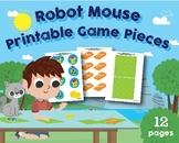 Robot Mouse Game Pieces, Printable, 1st Grade, Coding, Rob