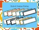 Robot Name Plates