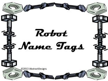 Robot Name Tags
