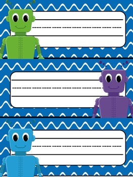 Nameplates - Robots