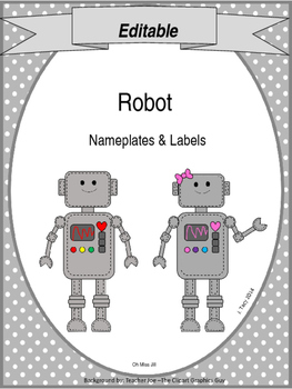 Editable Robot Nameplates & Labels