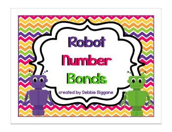 Robot Number Bond Flip Chart