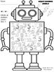 Robot Number Jumble Greater Less Practice