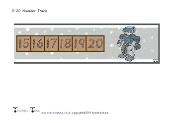 Robot Number Track to 20