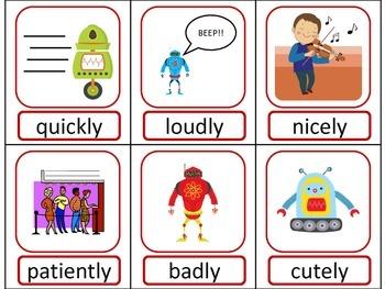Robot Part of Speech ELA Literacy Center GAMES