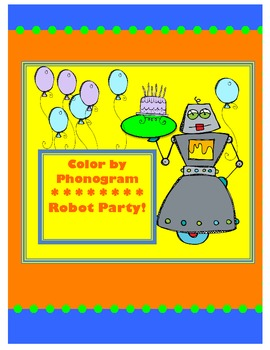 Robot Party-Color by Phonograms for Kindergarten