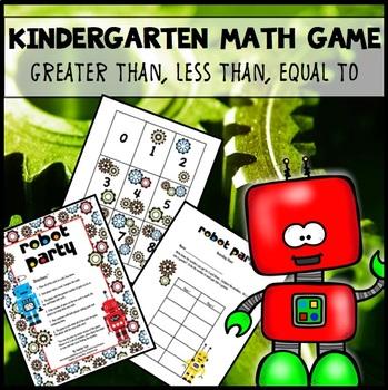 math worksheet : robot party kindergarten math game greater than equal to by  : Kindergarten Math Game