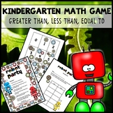Math Game Kindergarten Greater Than, Less Than, Equal To FREE