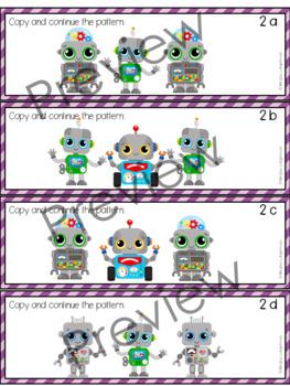 Robot Pattern Task Cards
