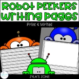 Robot Peekers Writing & Craft Pages